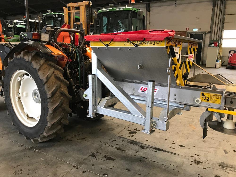 Tractorstrooier hydraulisch